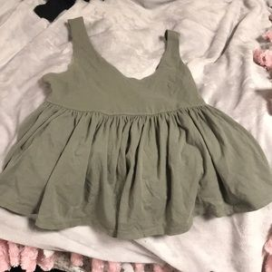 Urban outfitters Army green peplum top